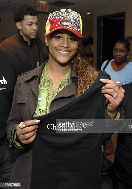 Anais at the Spanglish Gift Station during The 7th Annual Latin GRAMMY Awards Backstage Lounge by Distinctive Assets Day 2 at Madison Square Garden...