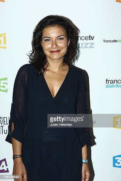 Anais Baydemir attends 'La Rentree France Televisions' at Palais De Tokyo on August 27 2013 in Paris France