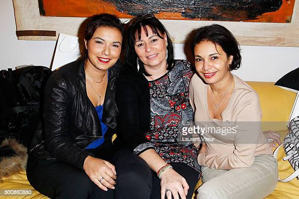 Anais Baydemir Elisabeth Deshayes and Saida Jawad attend the 'Maison Farrington' Cocktail Party on December 10 2015 in Paris France