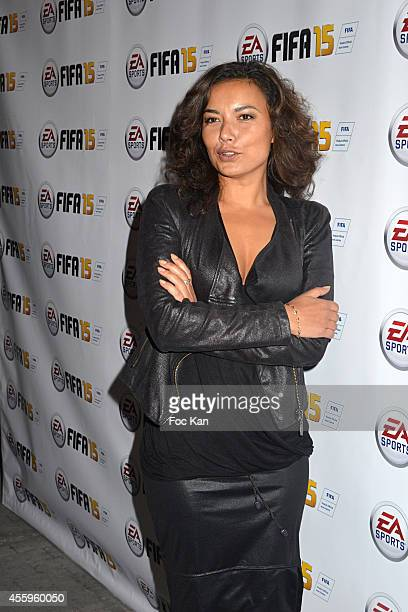 Anais Baydemir from France2 attends the 'Fifa 15' Party At L'Opera Restaurant on September 22 2014 in Paris France