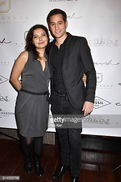 Anais Baydemyr and Julien Benedetto attend the 'MGeorges Restaurant' Opening Party Paris Fashion Week Womenswear Fall/Winter 2016/2017 on March 7...