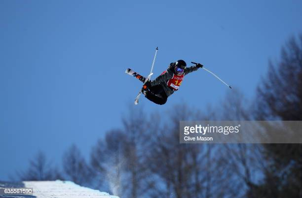 Anais Caradeux of France in action during the FIS Freestyle World Cup Ski Halfpipe Qualification at Bokwang Snow Park on February 16 2017 in...