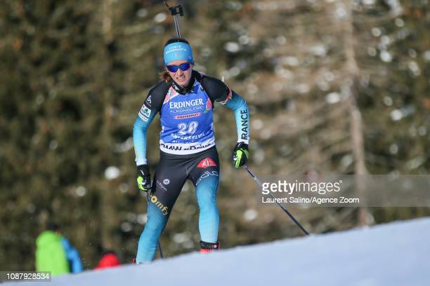 Anais Chevalier of France competes during the IBU Biathlon World Cup Women's Sprint on January 24 2019 in Antholz Anterselva Italy
