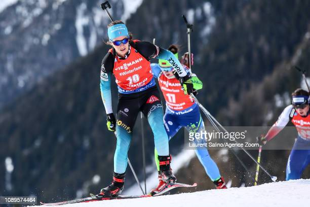 Anais Chevalier of France competes during the IBU Biathlon World Cup Men's and Women's Pursuit on January 26 2019 in Antholz Anterselva Italy