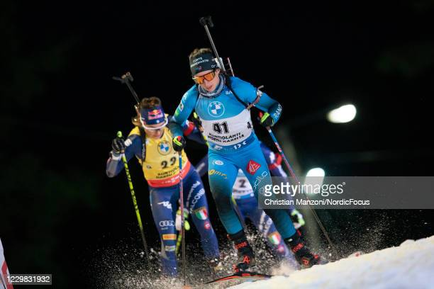 Anais Chevalier of France competes during the Women 15 km Individual Competition at the BMW IBU World Cup Biathlon Season Opening Kontiolahti at on...