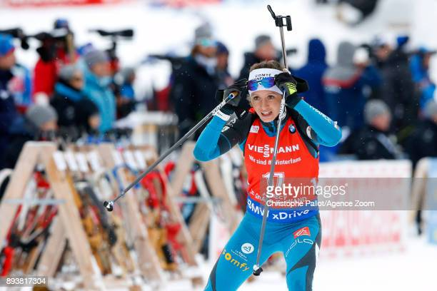 Anais Chevalier of France in action during the IBU Biathlon World Cup Men's and Women's Pursuit on December 16, 2017 in Le Grand Bornand, France.