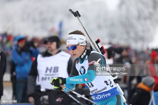 Anais Chevalier of France in action during the IBU Biathlon World Cup Men's and Women's Mass Start on December 17, 2017 in Le Grand Bornand, France.
