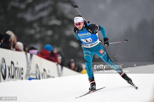 Anais Chevalier of France takes 2nd place during the IBU Biathlon World Cup Women's Relay on January 12 2017 in Ruhpolding Germany