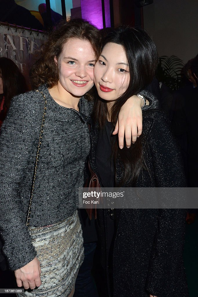 Anais de C and Su Bin Son attend the Prix de Flore 2013' : Ceremony Cocktail At Cafe De Flore on November 7, 2013 in Paris, France.
