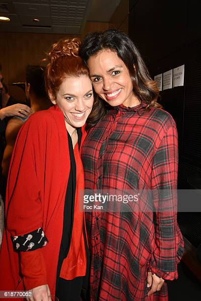 Anais Delva and Laurence RoustandjeeÊattend the Chocolate fashion show as a part of the Salon Du Chocolat 2016 Chocolate Fair at Parc des Expositions...
