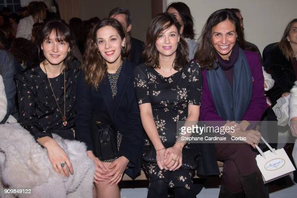 Anais Demoustier Alysson Paradis Melanie Bernier and Ines Sastre attend the Bonpoint Winter 2018 show as part of Paris Fashion Week January 24 2018...