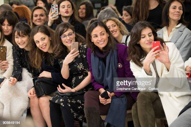 Anais Demoustier Alysson Paradis Melanie Bernier Ines Sastre and Louise Monot attend the Bonpoint Winter 2018 show as part of Paris Fashion Week...