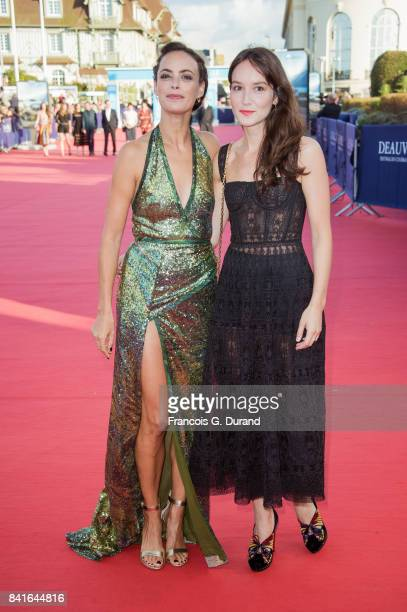 Anais Demoustier and Berenice Bejo arrive at the opening ceremony of the 43rd Deauville American Film Festival on September 1 2017 in Deauville France