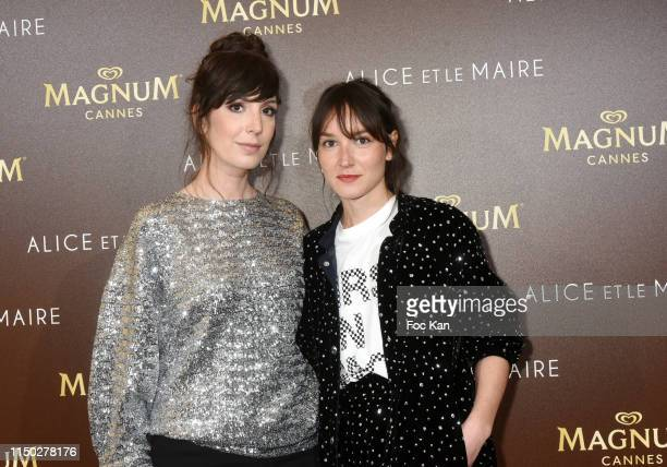 Anais Demoustier and Nora Hamzawi attend the Alice et Monsieur Le Maire Premiere Party at Magnum during the 72nd annual Cannes Film Festival on May...
