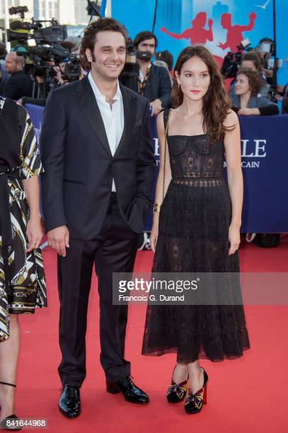 Anais Demoustier and Pio Marmai arrive at the opening ceremony of the 43rd Deauville American Film Festival on September 1 2017 in Deauville France
