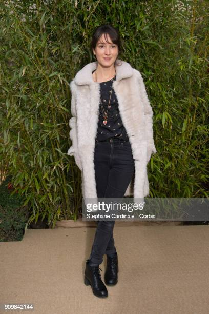 Anais Demoustier attends the Bonpoint Winter 2018 show as part of Paris Fashion Week January 24, 2018 in Paris, France.