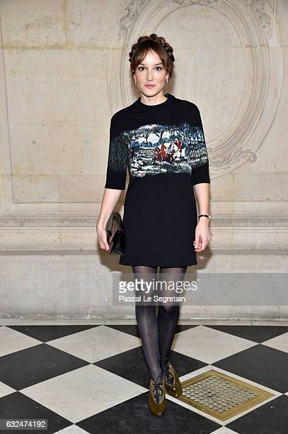 Anais Demoustier attends the Christian Dior Haute Couture Spring Summer 2017 show as part of Paris Fashion Week on January 23, 2017 in Paris, France.
