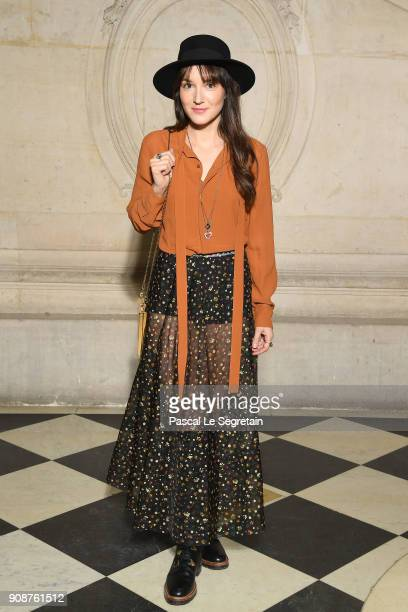 Anais Demoustier attends the Christian Dior Haute Couture Spring Summer 2018 show as part of Paris Fashion Week on January 22 2018 in Paris France