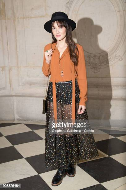 Anais Demoustier attends the Christian Dior Haute Couture Spring Summer 2018 show as part of Paris Fashion Week January 22 2018 in Paris France