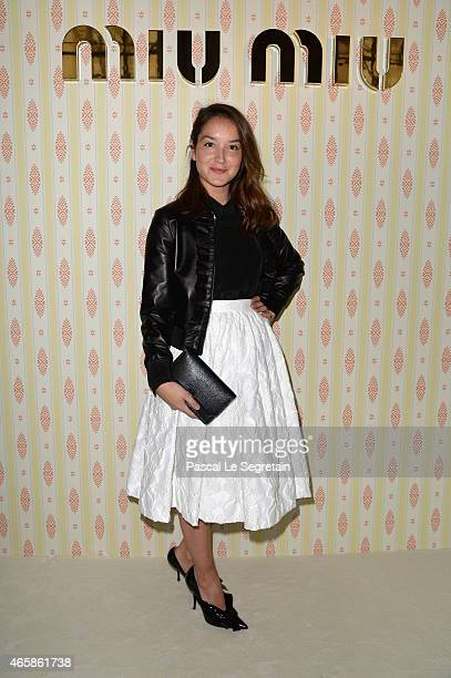 Anais Demoustier attends the Miu Miu show as part of the Paris Fashion Week Womenswear Fall/Winter 2015/2016 on March 11 2015 in Paris France