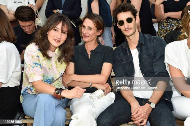 Anais Demoustier Camille Cottin and Pierre Niney attend the Bonpoint show as part of Paris Fashion Week on July 03 2019 in Paris France