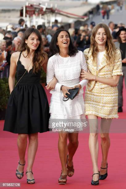 Anais Demoustier Charline BourgeoisTacquet Sigrid Bouaziz attend red carpet photocall during Cabourg Film Festival day 3 on June 15 2018 in Cabourg...