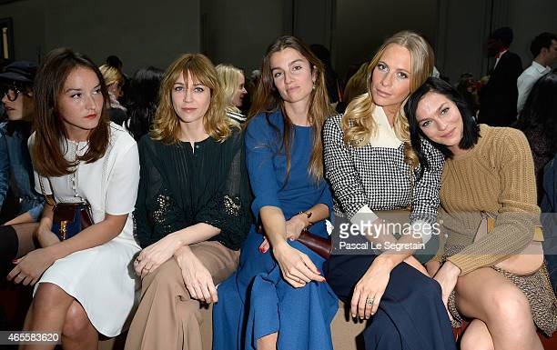 Anais Demoustier MarieJosee Croze Sonia Sieff Poppy Delevingne and Leigh Lezark attend the Chloe show as part of the Paris Fashion Week Womenswear...