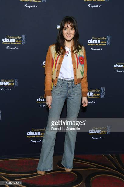 Anais Demoustier, nominated for 'Best Actress' in 'Alice et le maire', attends the Cesar 2020 - Nominee Luncheon At Le Fouquet's on February 09, 2020...