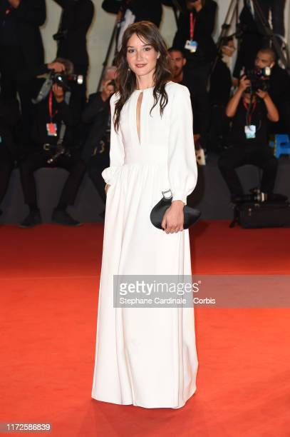 """Anais Demoustier walks the red carpet ahead of the """"Gloria Mundi"""" screening during the 76th Venice Film Festival at Sala Grande on September 05, 2019..."""