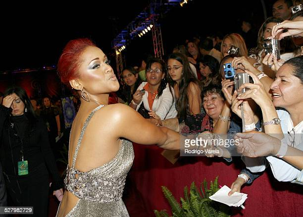 Anais during Premio Lo Nuestro a la Musica Latina 2007 Red Carpet at American Airlines Arena in Miami Florida United States