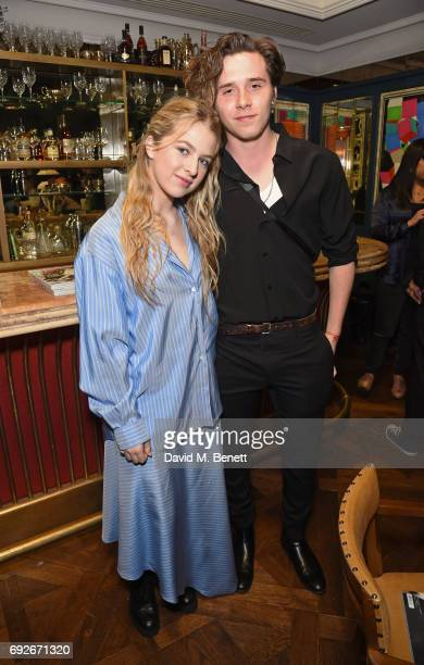 Anais Gallagher and Brooklyn Beckham attend the Wonderland Summer Issue dinner hosted by Madison Beer at The Ivy Soho Brasserie on June 5 2017 in...