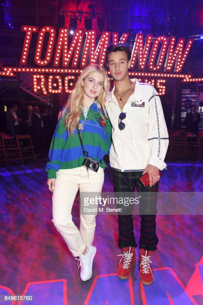 Anais Gallagher and Cameron Dallas attend the Tommy Hilfiger TOMMYNOW Fall 2017 Show during London Fashion Week September 2017 at The Roundhouse on...