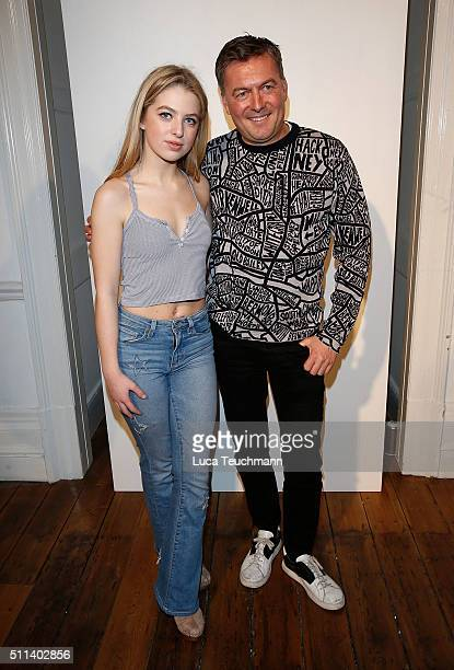 Anais Gallagher and Markus Lupher attends the Markus Lupher show during London Fashion Week Autumn/Winter 2016/17 at on February 20 2016 in London...