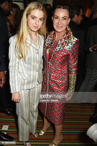 Anais Gallagher and Meg Mathews attend Edward Enninful's OBE dinner at Mark's Club on October 27 2016 in London England