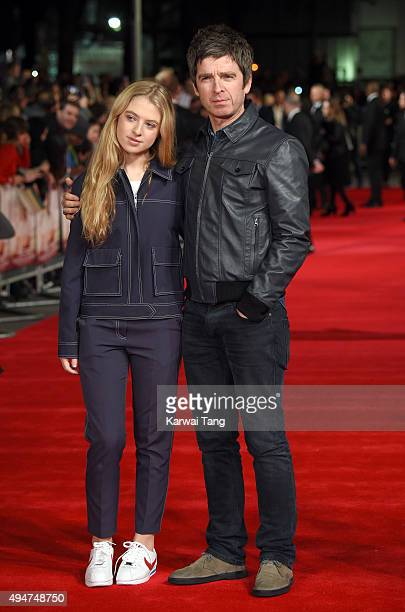 Anais Gallagher and Noel Gallagher attend the UK Film Premiere of 'Burnt' at Vue West End on October 28 2015 in London England