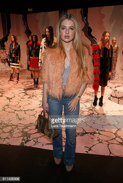 Anais Gallagher at the Shrimps presentation during London Fashion Week Autumn/Winter 2016/17 at ICA on February 20 2016 in London England