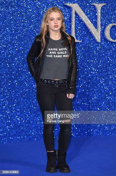 Anais Gallagher attends a London Fan Screening of the Paramount Pictures film 'Zoolander No 2' at Empire Leicester Square on February 4 2016 in...