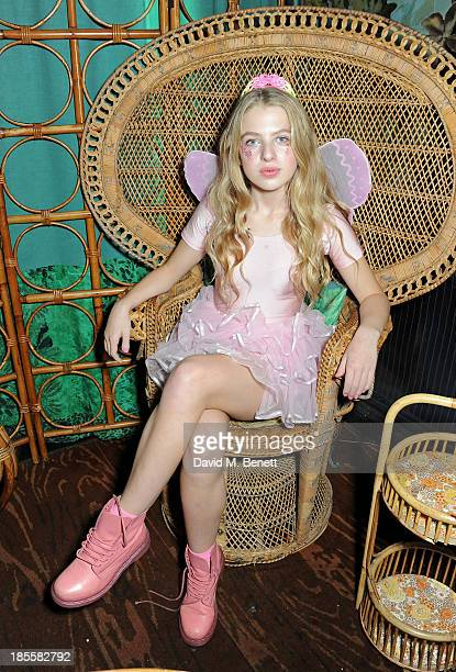 Anais Gallagher attends Claire's Halloween Party featuring a secret performance by Union J at Sketch on October 22 2013 in London England