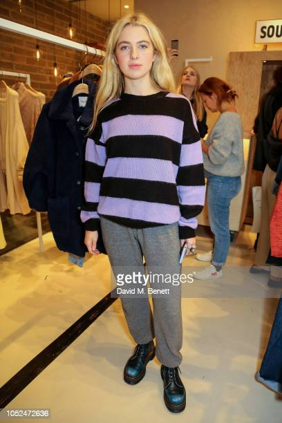 Anais Gallagher attends the American Vintage store opening in Marylebone on October 18 2018 in London England