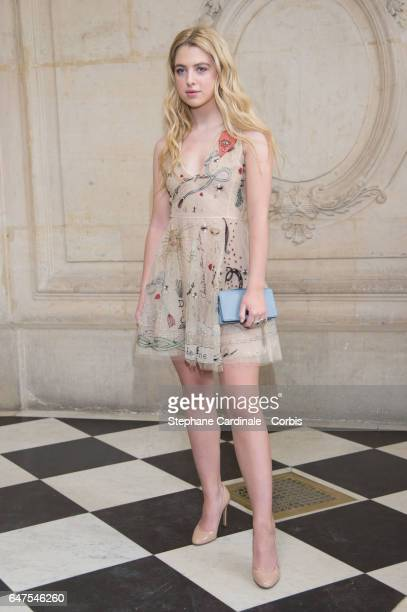 Anais Gallagher attends the Christian Dior show as part of the Paris Fashion Week Womenswear Fall/Winter 2017/2018 on March 3 2017 in Paris France