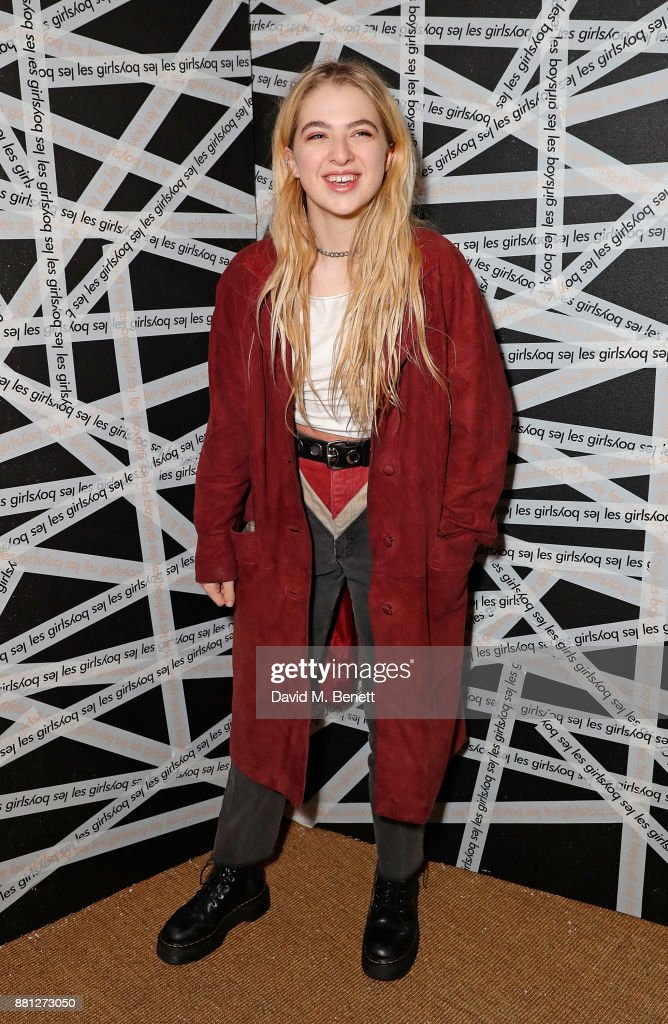 Anais Gallagher attends the Les Girls Les Boys festive party at Mahiki Kensington on November 28, 2017 in London, England.