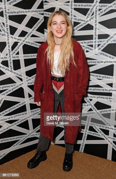 Anais Gallagher attends the Les Girls Les Boys festive party at Mahiki Kensington on November 28 2017 in London England