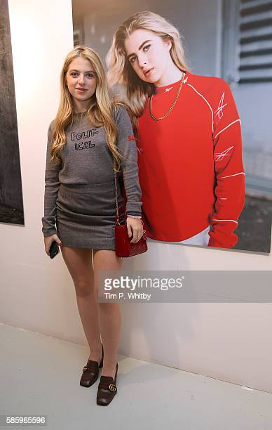Anais Gallagher attends the Reebok Classic 90's Collection Event on August 4 2016 at Rook and Raven Gallery in London England Anais Gallagher debuts...