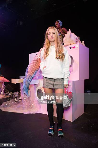 Anais Gallagher is seen at the Sophia Webster Spring/Summer 2016 London Fashion Week Presentation on September 20 2015 in London England