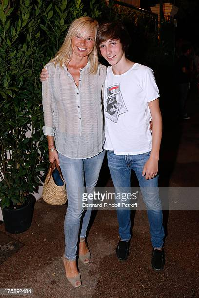 Anais Jeanneret and her son Vincent attend Christelle Chollet one woman show The New Show written and set stage by Remy Caccia at 29th Ramatuelle...