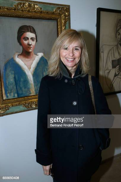 Anais Jeanneret attends the Olga Picasso Exhibition pivate view at Musee national PicassoParis on March 20 2017 in Paris France