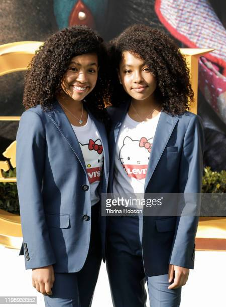 Anais Lee and Mirabelle Lee attend the Premiere of Universal Pictures' Dolittle at Regency Village Theatre on January 11 2020 in Westwood California
