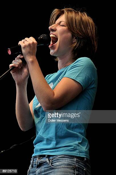 Anais performs on stage on the third day of Francofolies de Spa Festival on July 19 2009 in Spa Belgium