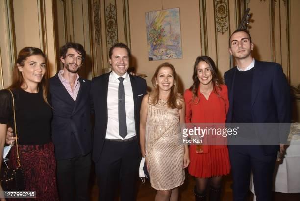 """Anais Petrossian, Mikael Petrossian, Paul Berkmann, Karine Ohana, Mathilde Romano and Louis Darmonie attend the Cocktail """"Karine Ohana And Co"""" Hosted..."""