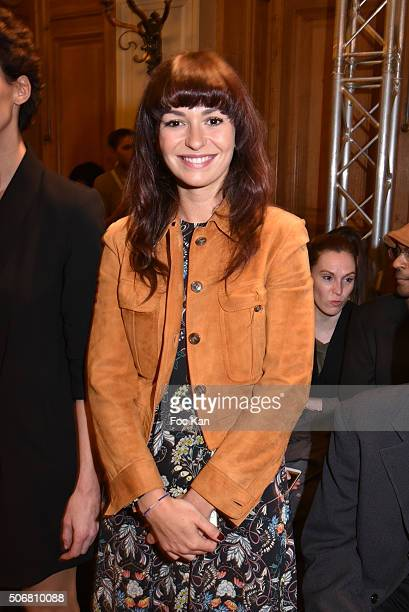 Anais Tellenne attends the Dany Atrache Spring Summer 2016 show as part of Paris Fashion Week on January 25 2016 in Paris France